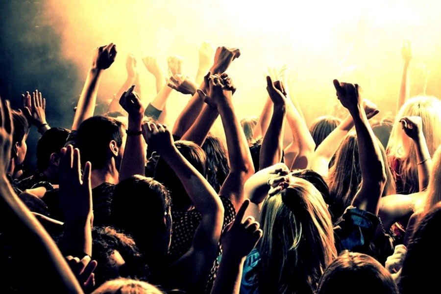 Hands Up in A Crowd