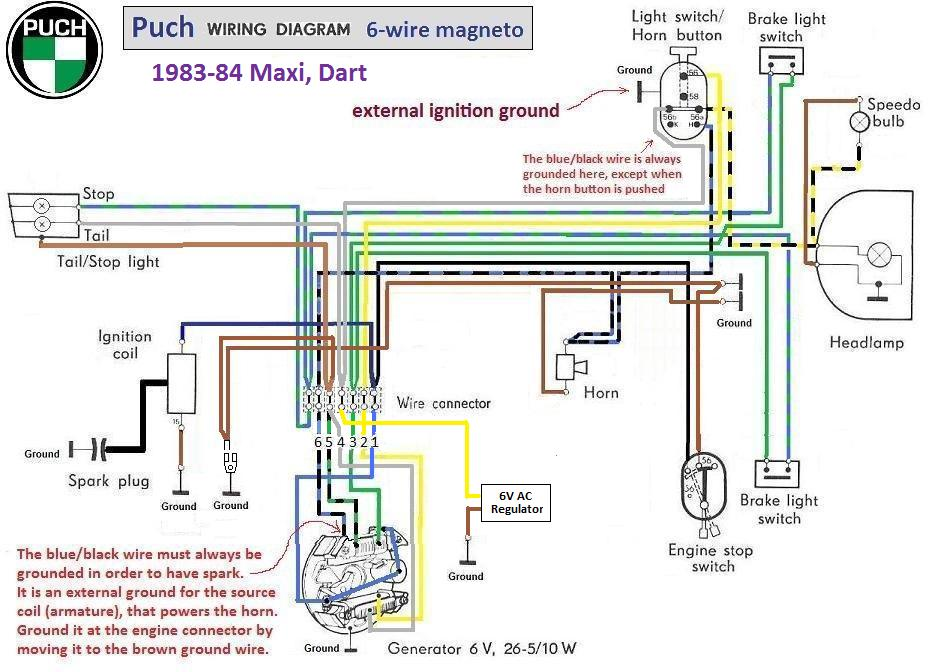Puch Wiring Diagram 1983 84 6 wire magneto chrome switches?resized665%2C481 hero puch wiring diagram efcaviation com puch maxi wiring diagram at n-0.co