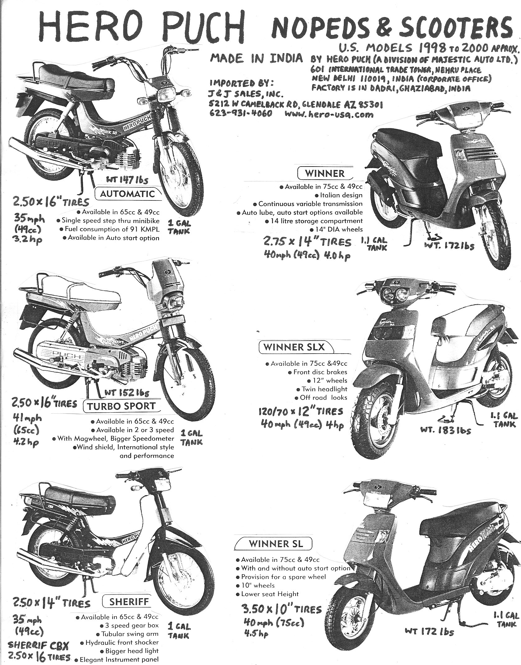 Manual Hero Puch 65cc