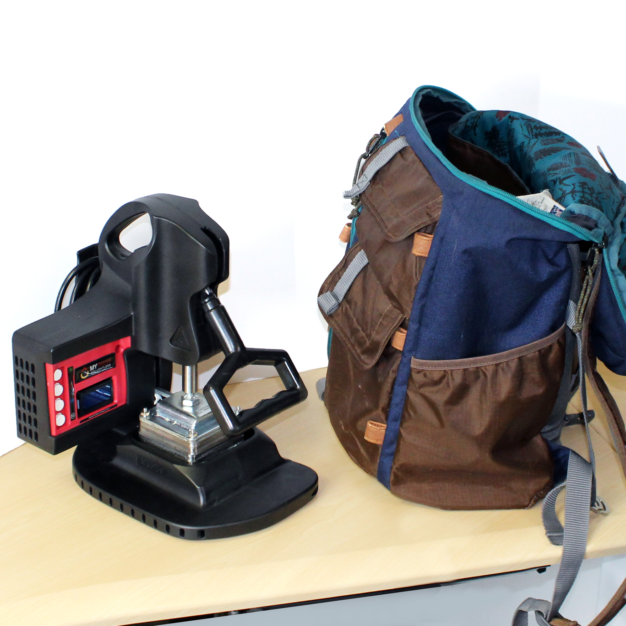 Rosin Press in a Backpack, portable, travel