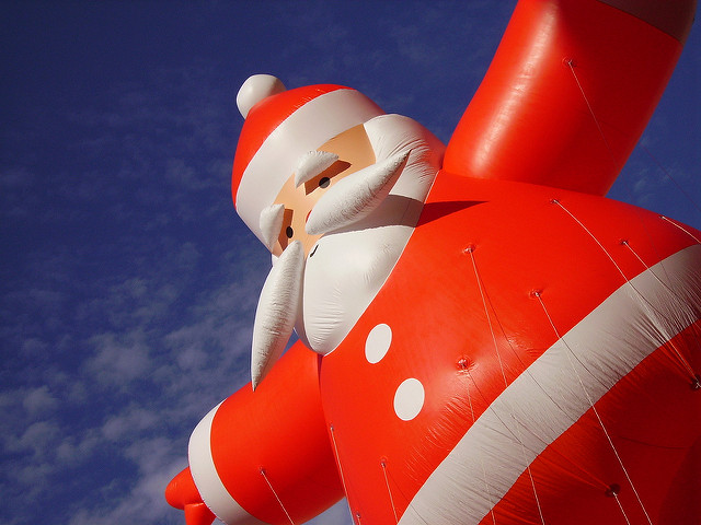 believe in Santa, Santa is real, Santa, Santa Claus, inflatable Santa, blow up Santa