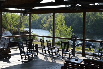 Views of the Intracoastal Waterway on the outdoor patio waiting area
