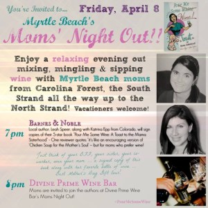 Join local author/mom for book signing and Moms' Night Out this Friday!