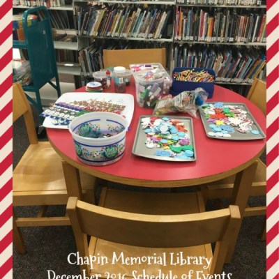 Movies, games, and a dance party! December events at Chapin Memorial Library