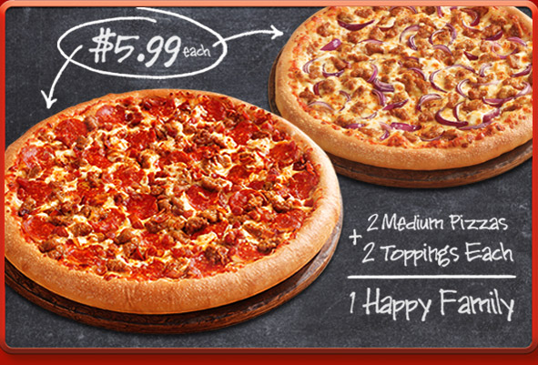 Two Medium Two Topping Pizzas For 5 99 Each At Pizza Hut Myrtle Beach On The Cheap