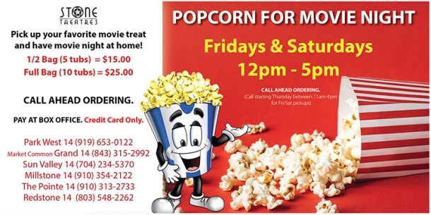 Movie Night Popcorn from Grand 14 Market Common