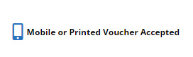 Mobile or printed vouchers accepted