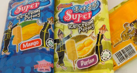 wrapper of Sabah ice-cream