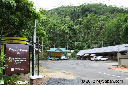entrance of Kiansom Waterall Park (Pusat Air Terjun Kiansom)