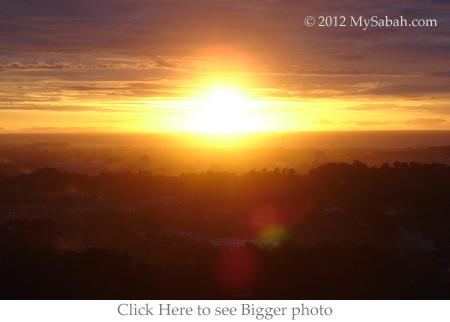 sunset on Bukit Padang