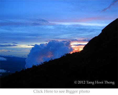 sunset of Laban Rata