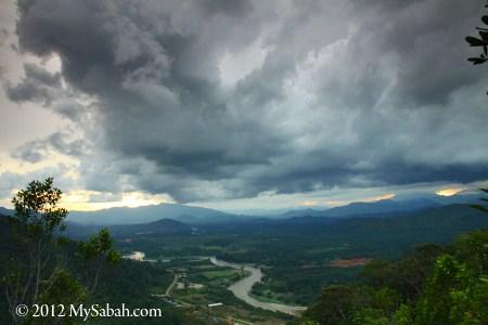 rain cloud on Telupid town
