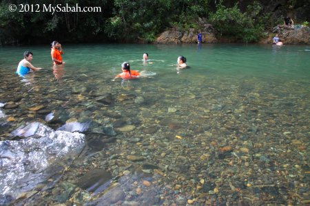 swimming in Meliau River