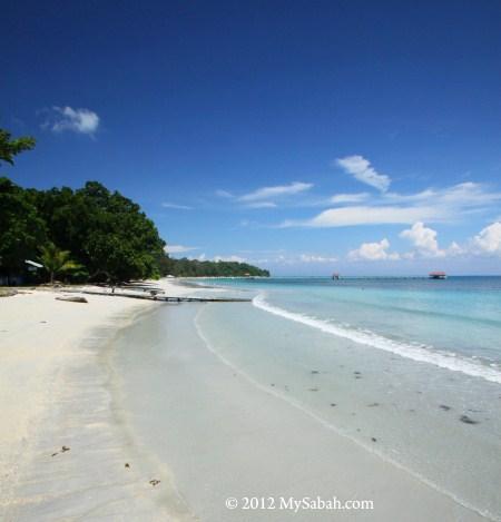 beach of Pulau Tiga Island