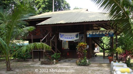 Watersport and Dive Center of Pulau Tiga Resort