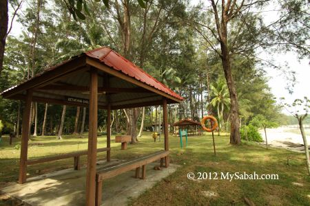beach shelter of Sabah Parks