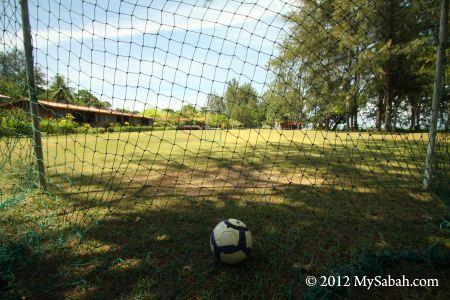 soccer field in Pulau Tiga