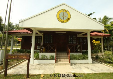 Sabah Parks office in Pulau Tiga