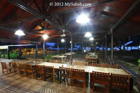 Dining area of Pulau Tiga Resort