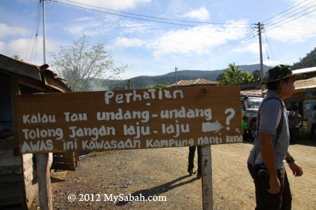 signage at Kg. Imbak