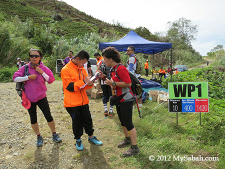 Water Station 1 of Ultra Trail Run