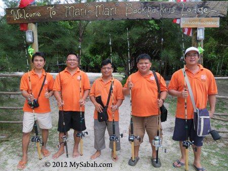 enthusiastic anglers