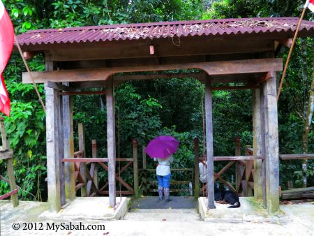 boardwalk to the Gomantong Cave