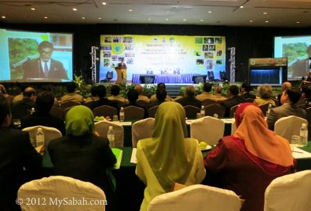 speech by Datuk Sam Mannan during International Conference on Heart of Borneo (HoB)