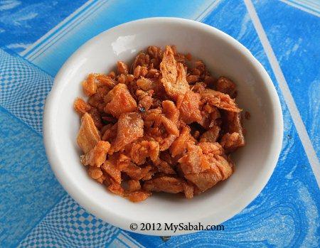 fried pork oil (猪油渣)