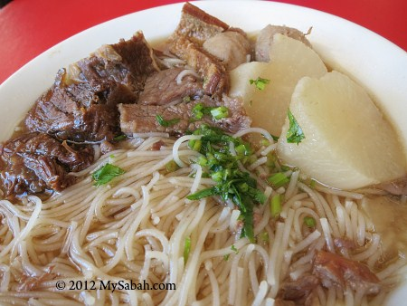 close-up of Ngiu Chap noodle