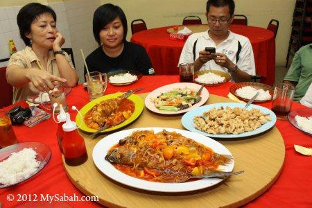food of Fook Seng Restaurant, Kunak