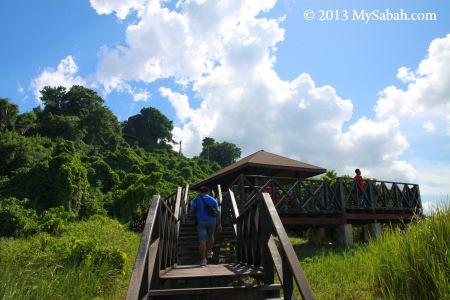observatory platform on Skull Hill (Bukit Tengkorak)