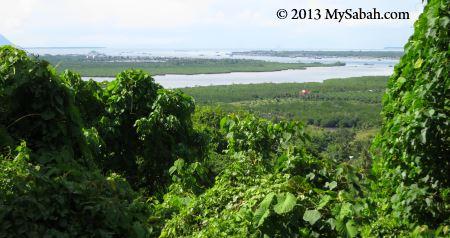 view of Semporna from Skull Hill (Bukit Tengkorak)