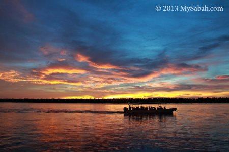 sunset view at Weston River