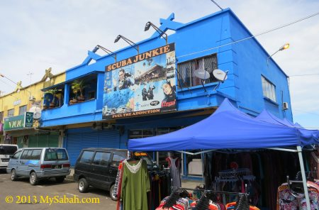 office of Scuba Junkie in Semporna town