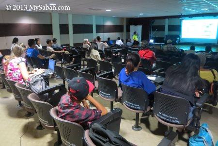 talk in seminar room of JKKNS