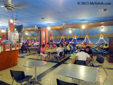 interior of Mabul Cafe