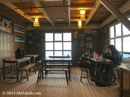 interior of Pendant Hut