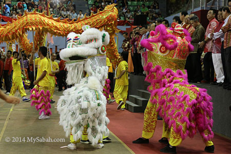lion dance gathering