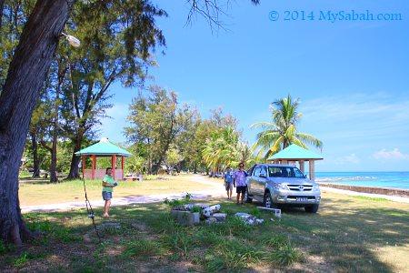 leisure walk at Bak-Bak Beach