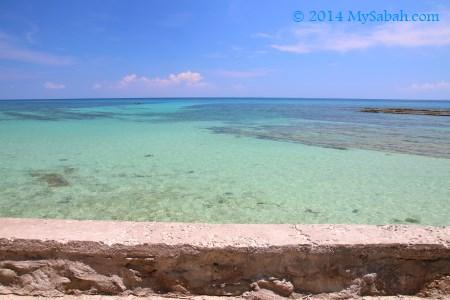 rock jetty of Bak-Bak Beach