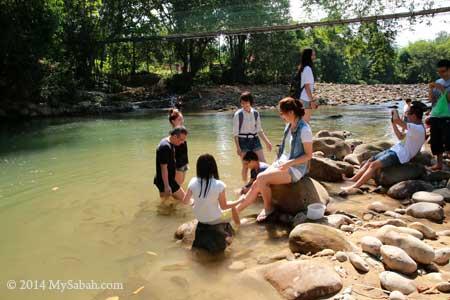 fish massage at Moyog River