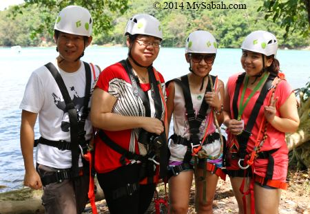 group ready for zipline