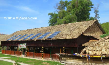 longhouse with solar panels