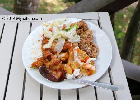 my lunch on Sepanggar Island