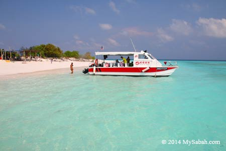 catamaran boat at the sea of Mengalum Island