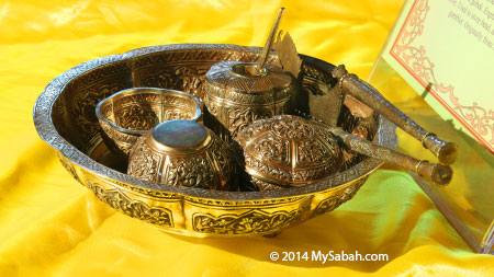 Silver Betel Nut Container from Sarawak