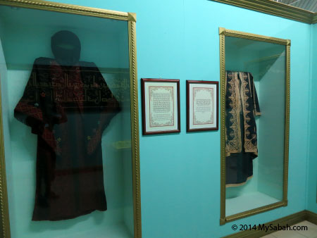 Muslim robes in display
