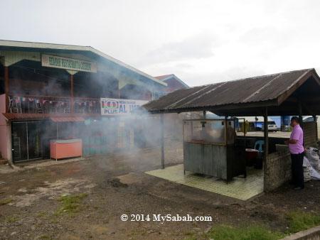 BBQ chicken wing stall
