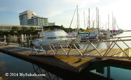 boats and yachts at Sutera Harbour